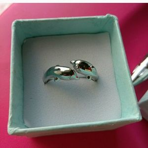 Sterling Silver Adjustable Dolphin Ring NWOT
